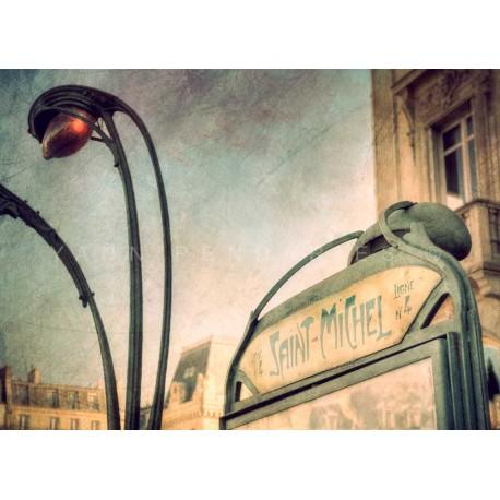 Metro Paris St Michel, Fine Art Paris print
