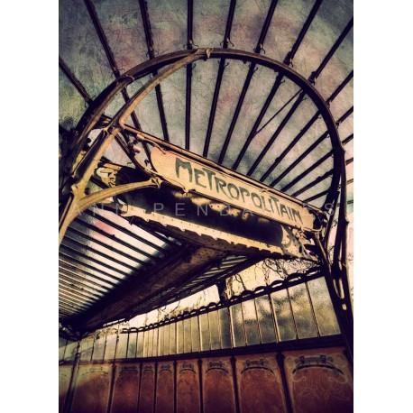 photo du métro parisien, Tirage artistique de Paris