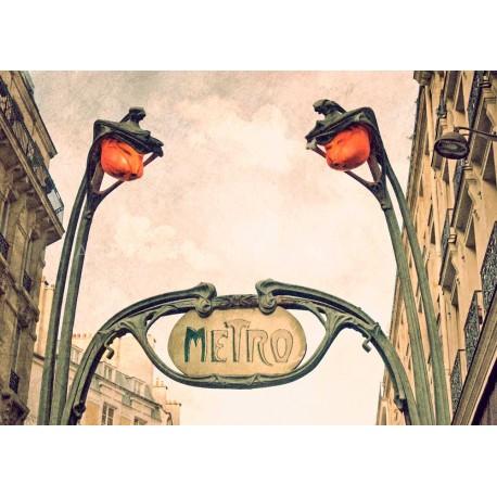 photo de bouche Métro parisien, Metro Paris N°3, Tirage artistique de Paris