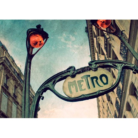 photo de métro à Paris, Tirage artistique de Paris