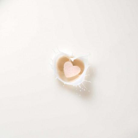 photo de coeur sucre blanc, Que mon coeur éclabousse N°2, photographie artistique nature morte