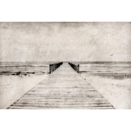photo de ponton en bord de mer, N°2, photographie artistique noir et blanc