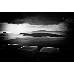 Storm in Santorini, Fine Art black-white photography print