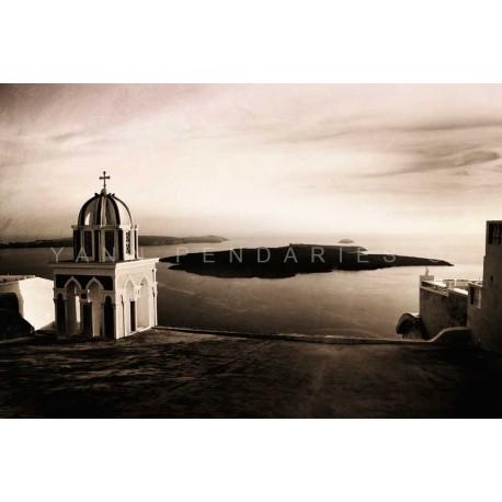 photo d'église en Grèce, N°3, photographie artistique noir et blanc