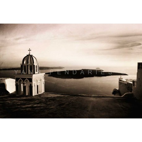 The greek church N°3, Fine Art black-white photography print