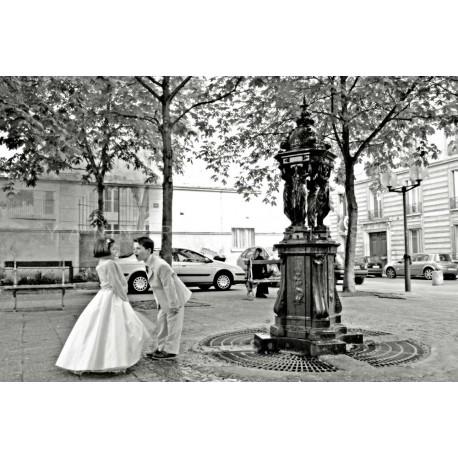 photo noir et blanc de paris, La dispute, photographie artistique noir et blanc