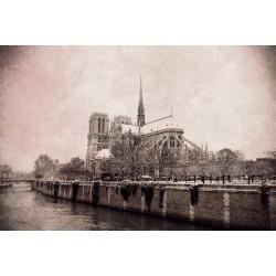 photo de Notre dame de Paris, photographie artistique noir et blanc