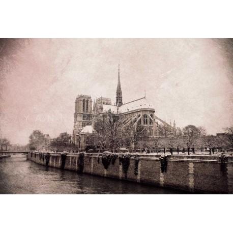 Notre dame de Paris, Fine Art black-white photography print