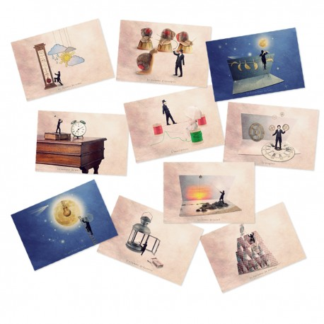 10 postcards collection Series N°3 Tiny trades