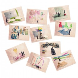 10 postcards collection Series N°4 Tiny trades