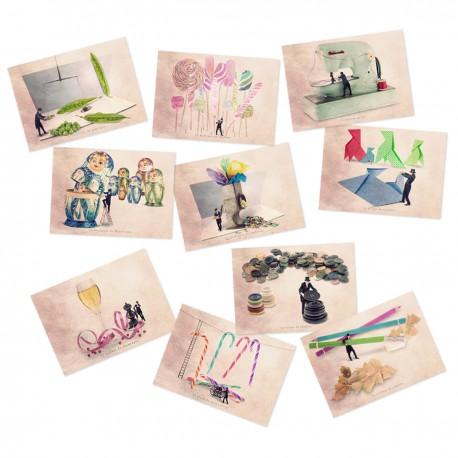 Carte postale humoristique jardinier, Carte postale humour, les tout petits métiers, cartes postales fun, cartes postale humoris