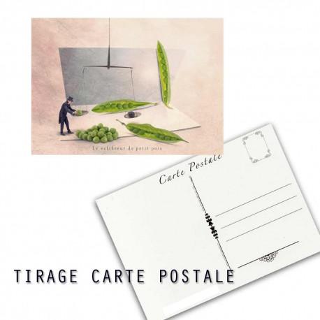 Carte postale humoristique jardinier, les tout petits métiers